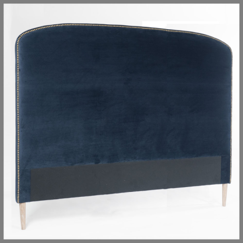 Hotel Luxury Collection Navy Velvet Bedheads With Studs
