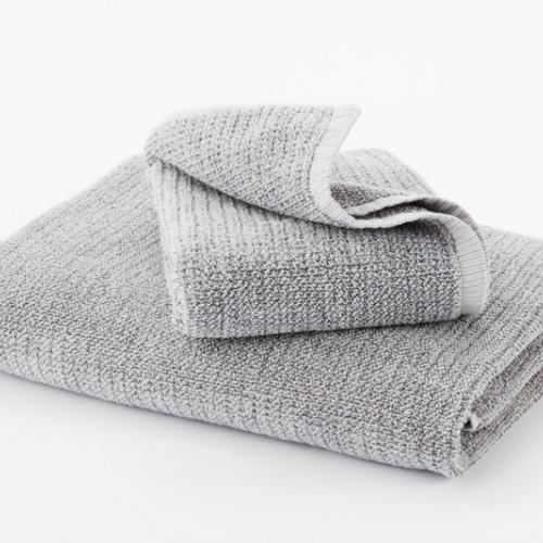 Hotel Collection Bath Mats: Grey Textured Tweed Bath Mats