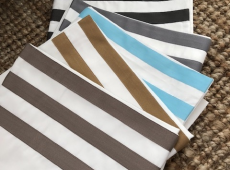 1000 Thread Count Flat Sheets With Shore Blue Trim
