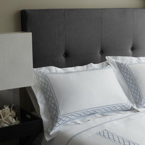 Luxury Hotel Charcoal Linen Bedhead