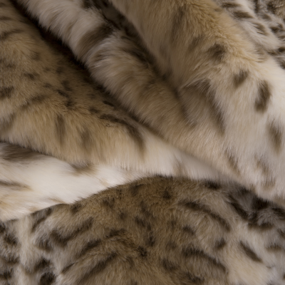 Hotel Luxury Collection Snow Leopard Faux Fur Throw