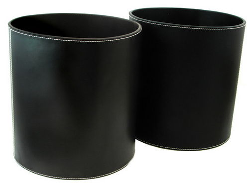 Hotel Luxury Collection Leather Waste Paper Bin