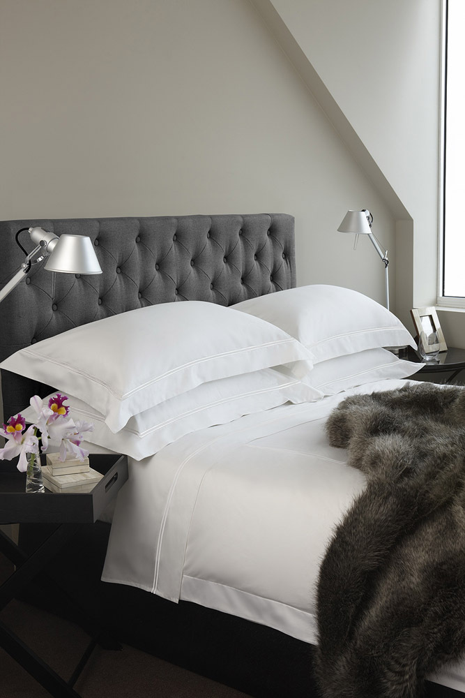 Luxury Hotel Charcoal Buttoned Bedhead