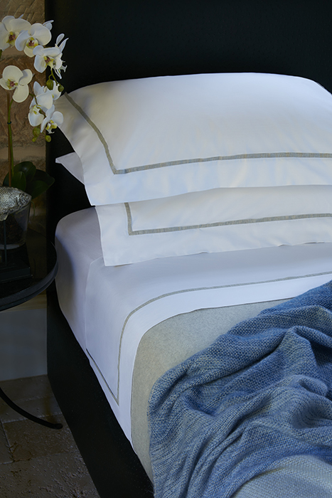 Italian Milled White Egyptian Cotton Sheet Sets