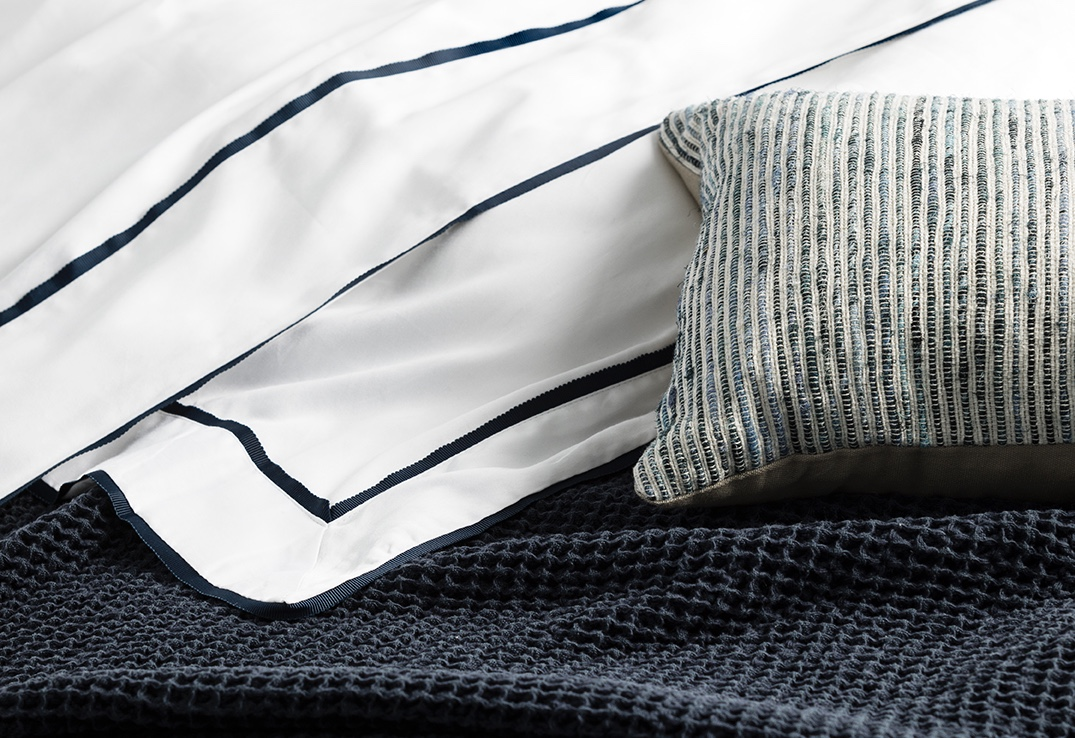 Hotel Luxury Collection Lisa Navy Blue Cotton Waffle