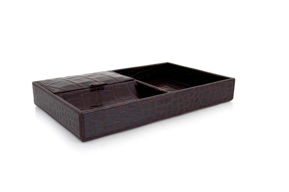 Hotel Luxury Collection Mens Valet Tray In Crocodile