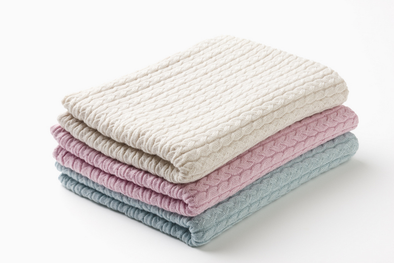 Hotel Luxury Collection Bobbie Cable Baby Blanket