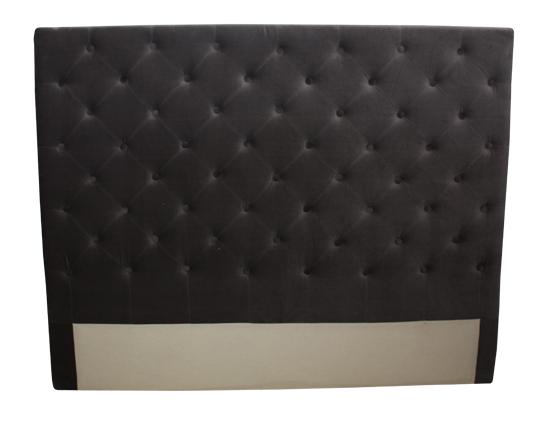 Charcoal Velvet Bedhead