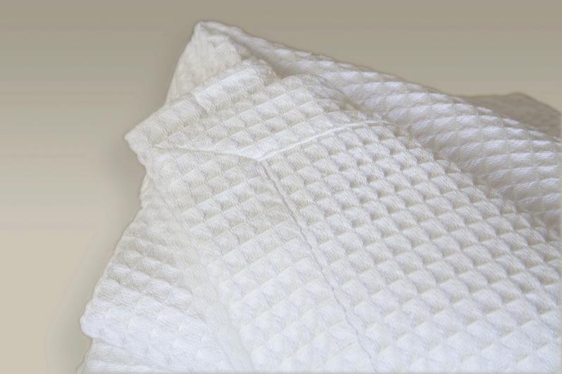 White Egyptian Cotton Waffle Blankets